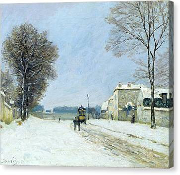 Winter, Snow Effect, 1876  Canvas Print by Alfred Sisley
