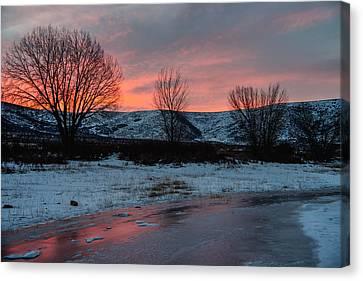 Winter Sunrise Canvas Print by Chad Dutson