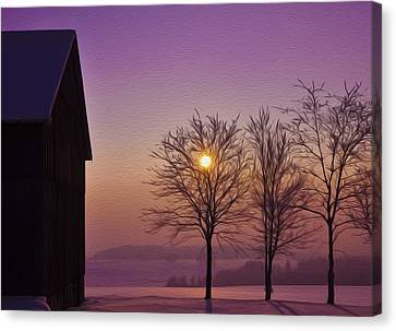 Winter Sunset Canvas Print by Aged Pixel
