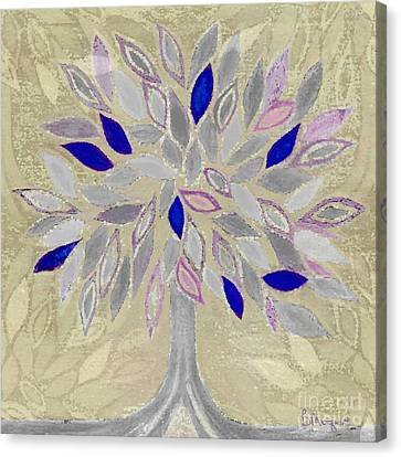 Winter Tree Canvas Print by Barbara Moignard