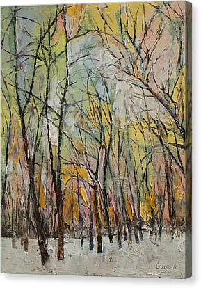 Winter Trees Canvas Print by Michael Creese
