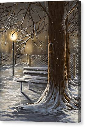 Winter Trilogy 1 Canvas Print by Veronica Minozzi