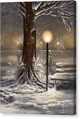 Winter Trilogy 2 Canvas Print by Veronica Minozzi