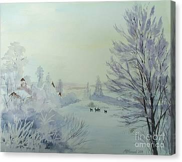 Winter Visitors Canvas Print by Martin Howard