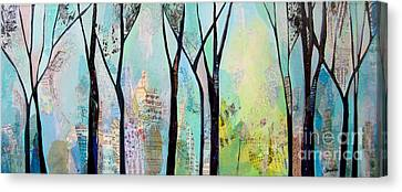 Winter Wanderings II Canvas Print by Shadia Derbyshire
