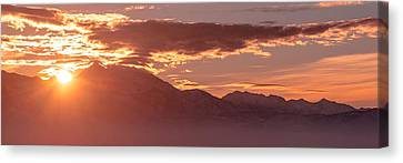 Winter Wasatch Daybreak Canvas Print by Chad Dutson