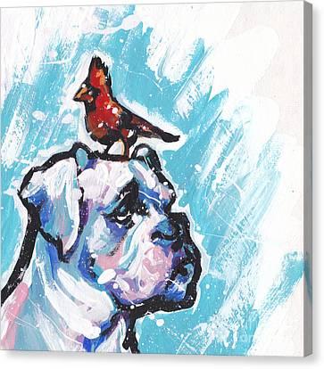Winter White Boxer Canvas Print by Lea S
