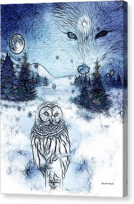 Winter White Canvas Print by The Feathered Lady