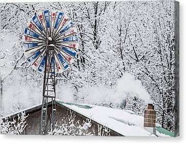 Winter Windmill Canvas Print by Paul Freidlund
