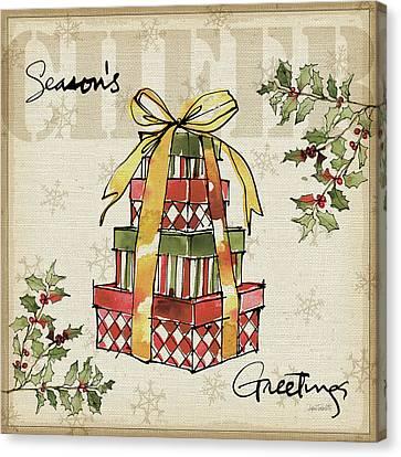 Winter Wishes Iv Canvas Print by Anne Tavoletti