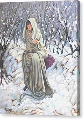 Winter Wonderland Canvas Print by Caroline Street