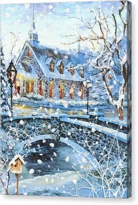 Winter Wonderland Canvas Print by Mo T