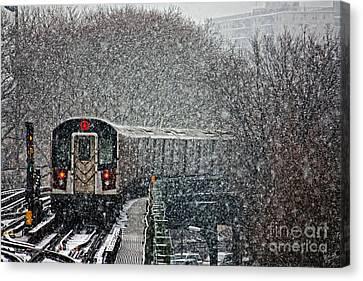 Winter Wonderland Vs Winter Woes Canvas Print by Nishanth Gopinathan