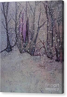 Winter Woods Canvas Print by Sari Sauls