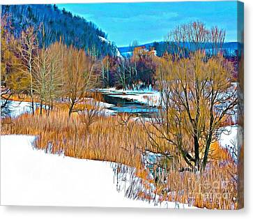 Winter's Beauty  Canvas Print by Helene Guertin