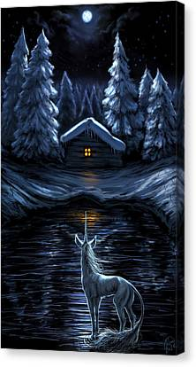 Winter's Chill Canvas Print by Katerina Romanova