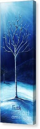 Winter's Hope Canvas Print by Shevon Johnson
