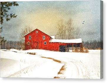 Winters Morning Canvas Print by Mary Timman