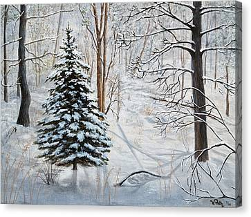 Winter's Peace Canvas Print by Vicky Path