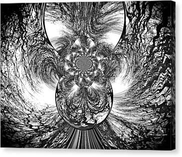 Winter's Vortex Canvas Print by Absinthe Art By Michelle LeAnn Scott