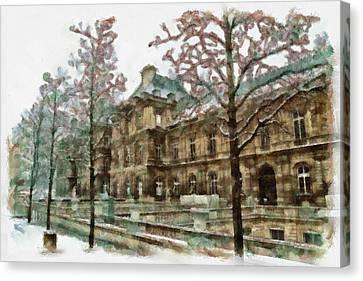 Wintertime Sadness Canvas Print by Ayse Deniz