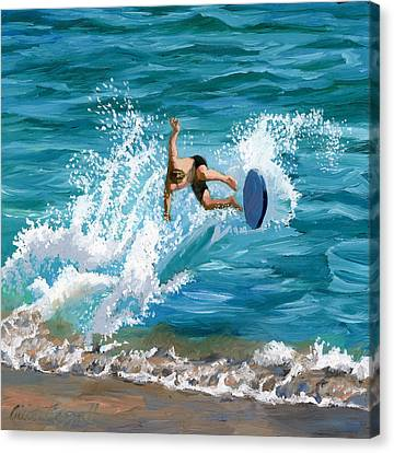 Wipeout Canvas Print by Alice Leggett