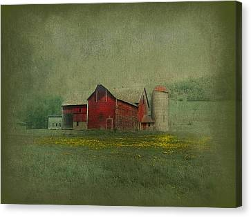 Wisconsin Barn In Spring Canvas Print by Jeff Burgess