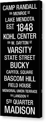 Wisconsin College Town Wall Art Canvas Print by Replay Photos
