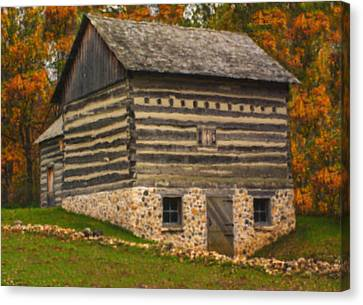 Wisconsin Homestead Canvas Print by Jack Zulli
