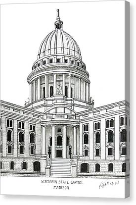 Wisconsin State Capitol Canvas Print by Frederic Kohli