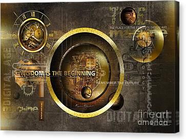 Wisdom Is The Beginning Canvas Print by Franziskus Pfleghart