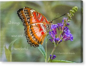 Wise And Wonderful Canvas Print by Karen Stephenson