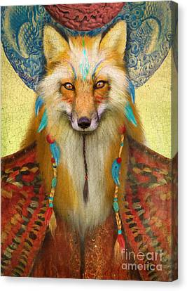 Wise Fox Canvas Print by Aimee Stewart