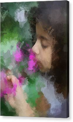 Wishing Well Reflection Canvas Print by Paul Slebodnick