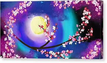Wispering Night Canvas Print by Mellisa Ward