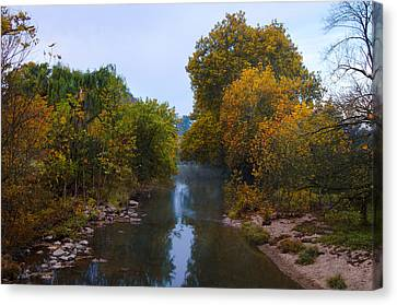 Wissahickon Creek In Whitemarsh Canvas Print by Bill Cannon