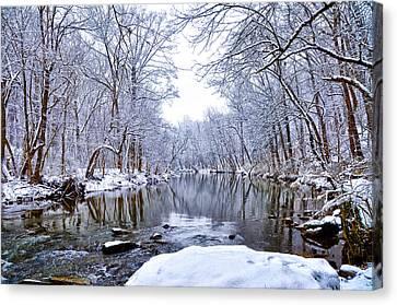 Wissahickon Winter Wonderland Canvas Print by Bill Cannon
