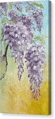 Wisteria And Gold Canvas Print by Mary Rogers