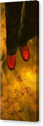 Witch Walking Canvas Print by RC DeWinter
