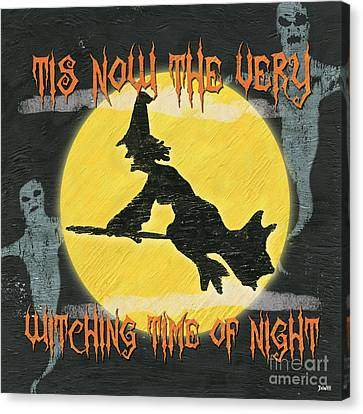 Witching Time Canvas Print by Debbie DeWitt