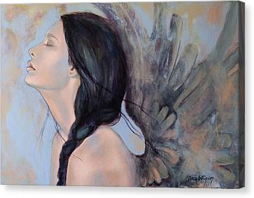 With Ancient Love Canvas Print by Dorina  Costras