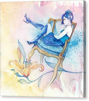 With Head In The Clouds Canvas Print by Anna Ewa Miarczynska