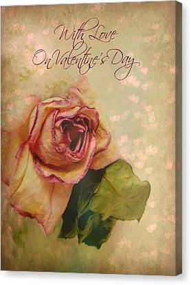 With Love On Valentine's Day Canvas Print by Shirley Sirois