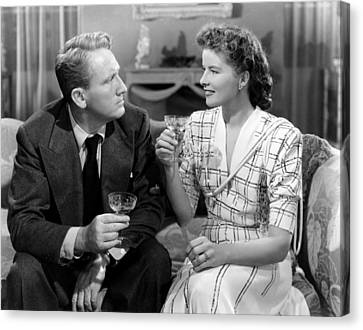 Without Love, From Left, Spencer Tracy Canvas Print by Everett