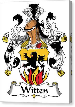 Witten Coat Of Arms German Canvas Print by Heraldry