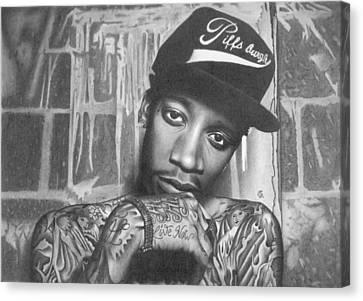 Wiz Khalifa Canvas Print by George Sotirchos