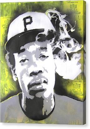 Wiz Khalifa Canvas Print by John Little