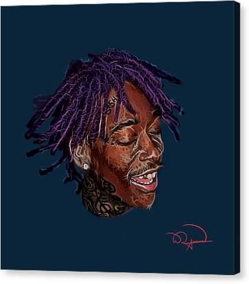 Wiz Khalifa Canvas Print by Will Anderson