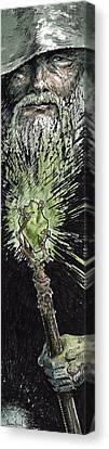 Wizard Canvas Print by Sean Seal