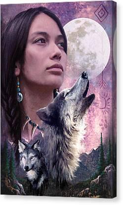 Wolf Montage Canvas Print by Garry Walton